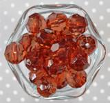 20mm Auburn brown faceted bubblegum beads