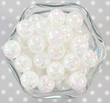 16mm Clear AB crackle bubblegum beads