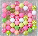 Lilypad pink and green bubblegum bead wholesale kit
