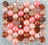 Rose Gold bubblegum bead wholesale kit
