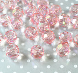 20mm Pink AB faceted bubblegum beads