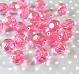 20mm Shocking pink AB faceted bubblegum beads
