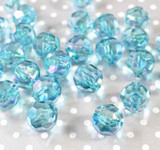 20mm Turquoise AB faceted bubblegum beads