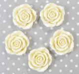 Ivory resin flower beads