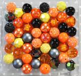 Halloween orange black yellow bubblegum bead wholesale kit