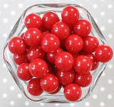 16mm Dark red solid bubblegum beads