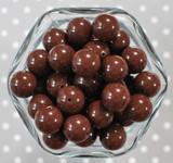 16mm Brown solid bubblegum beads