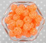 16mm Neon orange AB rhinestone bubblegum beads