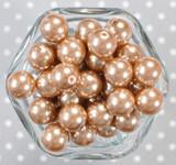 16mm Champagne pearl bubblegum beads