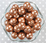 16mm Bronze pearl bubblegum beads