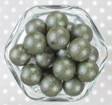 20mm Avocado wrinkle pearl bubblegum beads