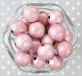 20mm Pink stardust metallic bubblegum beads