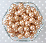 12mm Champagne pearl bubblegum beads