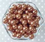 12mm Bronze pearl bubblegum beads
