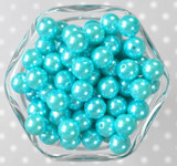 12mm Turquoise pearl bubblegum beads