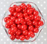 12mm Red pearl bubblegum beads