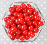 12mm Red pearl bubblegum beads