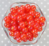12mm Red AB crackle bubblegum beads