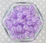 12mm Light orchid AB crackle bubblegum beads