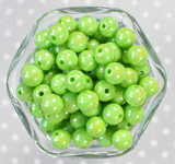 12mm Lime AB solid bubblegum beads