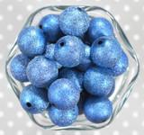 20mm Royal blue stardust metallic bubblegum beads