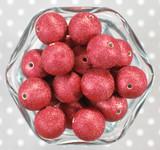 20mm Dark red stardust metallic bubblegum beads