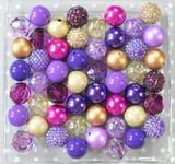 Purple and Gold bubblegum bead wholesale kit