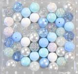 Blue Ice bubblegum bead wholesale kit