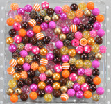 12mm Fall Fabulous bubblegum bead mix