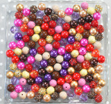 12mm Fall Berries bubblegum bead mix
