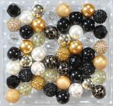 Black and Gold metallic bubblegum bead wholesale kit