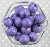 20mm Dark Purple stardust metallic bubblegum beads