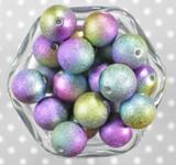 20mm Mermaid stardust metallic bubblegum beads