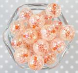 20mm Orange barrel AB crackle bubblegum beads