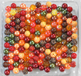 12mm Harvest bubblegum bead mix