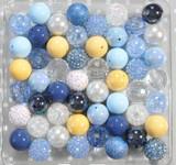 Blue Princess bubblegum bead wholesale kit