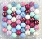 Burgundy Bloom bubblegum bead wholesale kit