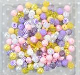 12mm Easter Morning bubblegum bead mix