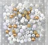 12mm Shine On bubblegum bead mix