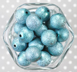 20mm Turquoise stardust metallic bubblegum beads