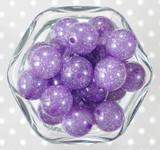 20mm Light purple glitter jelly bubblegum beads