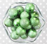 20mm Emerald stardust metallic bubblegum bead