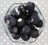 20mm Navy opaque faceted acrylic beads