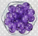 20mm Dark purple fizzy pop bubblegum beads