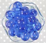 20mm Royal blue fizzy pop bubblegum beads