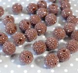 20mm Brown Dewdrop bubblegum beads