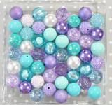 Turquoise, Aqua, and purple bubblegum bead wholesale kit