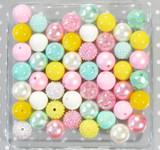 Pink Yellow Mint bubblegum bead wholesale kit
