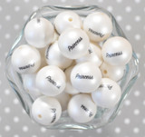 20mm Princess  printed bubblegum beads