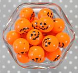 20mm Pumpkin solid printed bubblegum beads